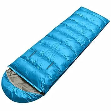 SUHAGN Saco de dormir Viajes Interiores Y Exteriores Para Adultos Camping Bolsas De Dormir Grueso Mano Cálida Invernales 1,4 Kg 0.8Kg Azul, Azul: Amazon.es: ...