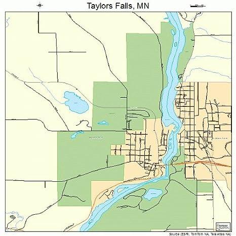 Amazon.com: Large Street & Road Map of Taylors Falls, Minnesota MN on bridge street map, road map, parking lot map, jackson street map, a street art, a street intersection, washington street map, weather map, state map, detailed street map, physical map,