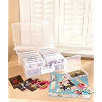 Scrapbooking 1,600 Photo Organizer Case - 16 Inner Cases - Snap Closures