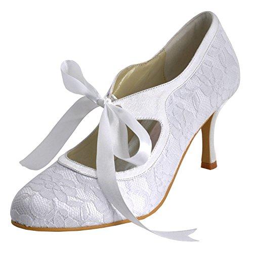 Kevin Forma, Sapatas Senhoras De Casamento Branco - Tamanho: 43