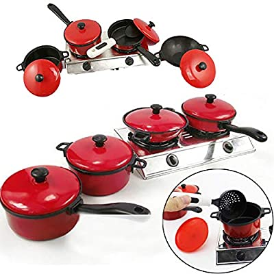 Grocery House Kitchen Pretend Toys, 13Pcs Child Cooking Toy Kids Play Kitchen Sets Home Cooking Role Play Toys Cooking Food Utensils Pans Pots Dishes Cookware Cooking Toy Gift for Kid Pretend Play: Toys & Games
