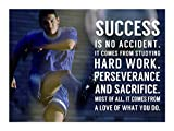 Great Art Now Success is No Accident by Sports Mania Art Print, 16 x 12 inches