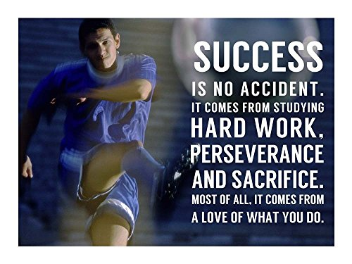 Great Art Now Success is No Accident by Sports Mania Art Print, 16 x 12 inches by Great Art Now