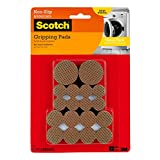 Scotch SP941-NA Gripping Pads Value Pack, Round, Brown, Various Sizes, 36 Pads/Pack
