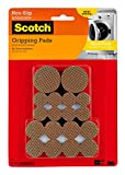 Scotch Gripping Pads Value Pack, 36 Pads/Pack, Round, Brown, Various Sizes,  (SP941-NA)