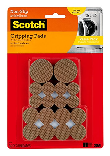 Scotch Gripping Pads Value Pack, Round, Brown, Various Sizes, 36 Pads/Pack (SP941-NA) (Gripper Furniture Pads)