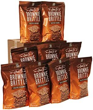 Brownie Brittle, Salted Caramel (120 calories per ounce), 14 Ounce (Pack of 9)