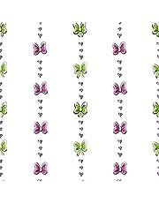York Wallcoverings Walt Disney Kids II Bow Stripe Wallpaper Memo Sample, 8-Inch x 10-Inch, White/Pink/Purple/Green/Black