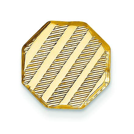 14K Yellow Gold Grooved Tie Tac by Accessory Tie Bar (Image #2)
