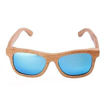 Z&YQ Gafas de sol polarizadas marco de madera gafas ...
