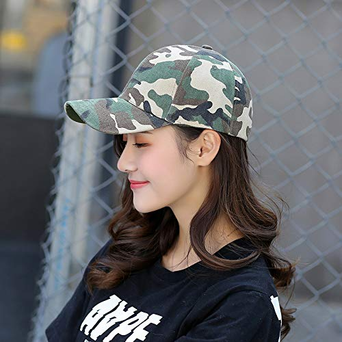 (LONFENN Ladies Women Hats Camouflage Hat Couple Baseball Cap Military Cap Sports Cap Outdoor Sun Visor Hats Army Green Adj.)