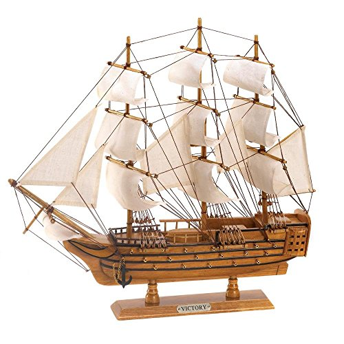 Hms Victory Wood Model Ship - StealStreet Koehler Indoor Home Tabletop Decor Wooden Hms Victory Ship Model