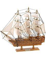 "Smart Living Koehler Indoor Home Tabletop Decor Wooden Hms Victory Ship Model, 19"""