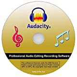 Audacity Audio Recorder and Editor - Your professional sound studio for recording, editing and playing all common audio files: WAV, AIFF, FLAC, MP2, MP3, OGG Vorbis I For PC + Mac