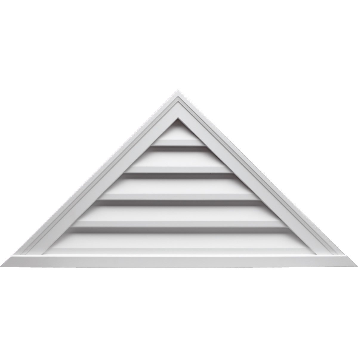 Fypon TRLV48X18 48''W x 18''H Triangle Louver, 9/12 Pitch, Decorative