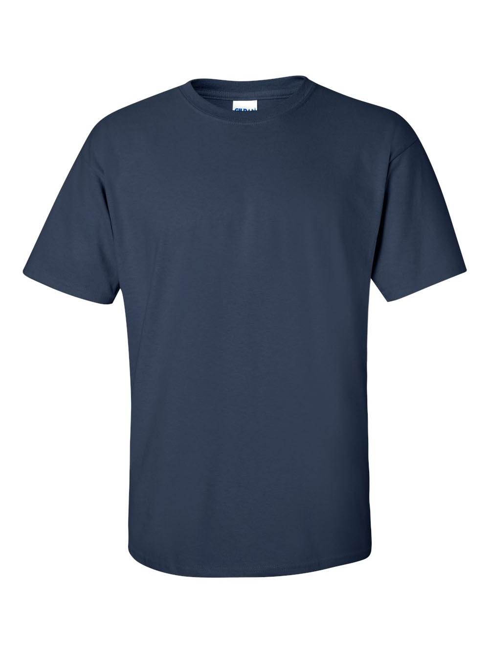 Gildan Men's Ultra Cotton Adult T-Shirt, 2-Pack, Navy, X-Large