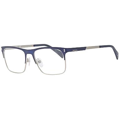 0ed40ca95c Amazon.com  DIESEL Eyeglasses DL5151 091 Matte Blue 54MM  Clothing