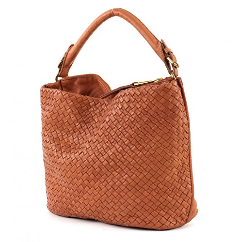 Marc O'Polo Woven Hobo Bag Large Cognac
