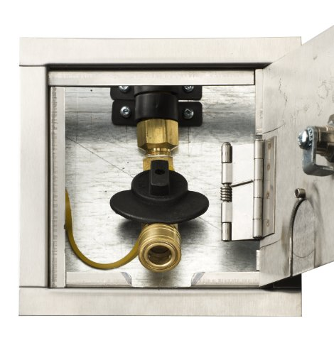 Gas Plug G0101-DM-SS-38 Deck Mount Gas Outlet Box with 1/2-Inch Inlet, 3/8-Inch Outlet and Galvanized Stainless Steel Enclosure by Burnaby Manufacturing Ltd