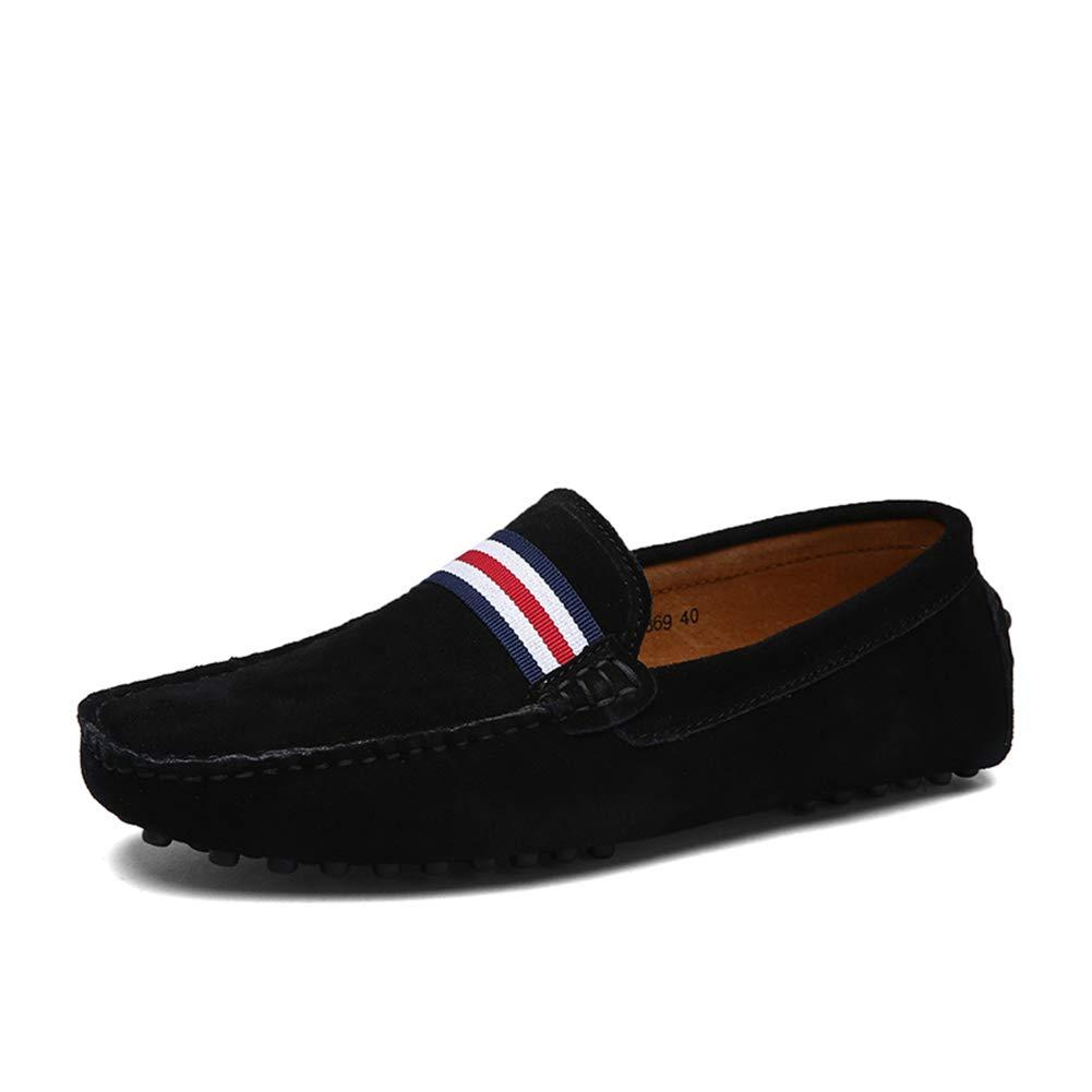 GPF-fei Men ' S Lederschuh, Fall Spring Komfort-Wanderschuh Fashion Loafers & Slip-One Soft Flat schuhe Leichtbauschuh Leichtbau Schuhe,schwarz,40