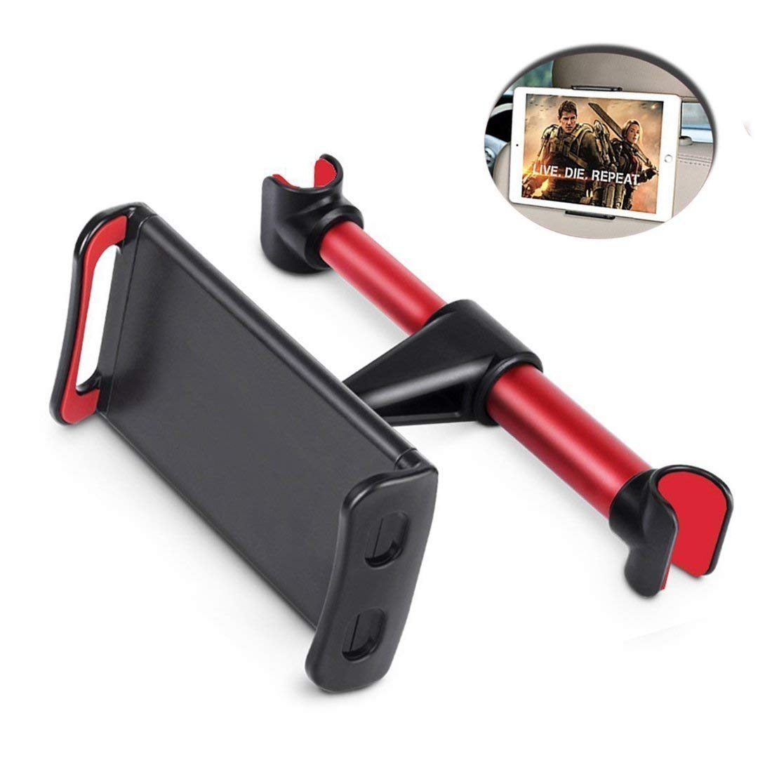 Car Headrest iPad Holder,Peipai Phone /& Tablet Car Mount Holder 360 Degree and Multi-angle Rotation Headrest Stand for 4.7-10 inch Tablet and Phone