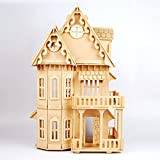 17 Wooden Dream Dollhouse 6 Rooms DIY Kits Miniature Doll House Great for Gift by Dowonsol