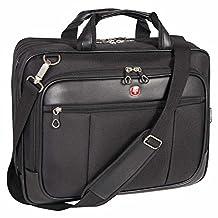 Swiss Gear SWA0917C Scan Smart Large Briefcase DeLuxe Top Load Laptop Case (Black)