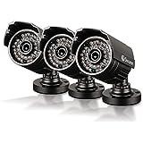 Swann PRO-735 Bullet CMOS 720 TVL 3 pack Bullet Camera Bullet Camera, Black (SRPRO-735WB3-US)