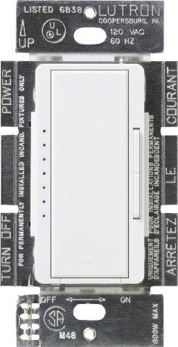 Location 1000 Watt Dimmer - Lutron MSC-1000M-SW Maestro 1000-watt Multi-Location Digital Dimmer, Snow