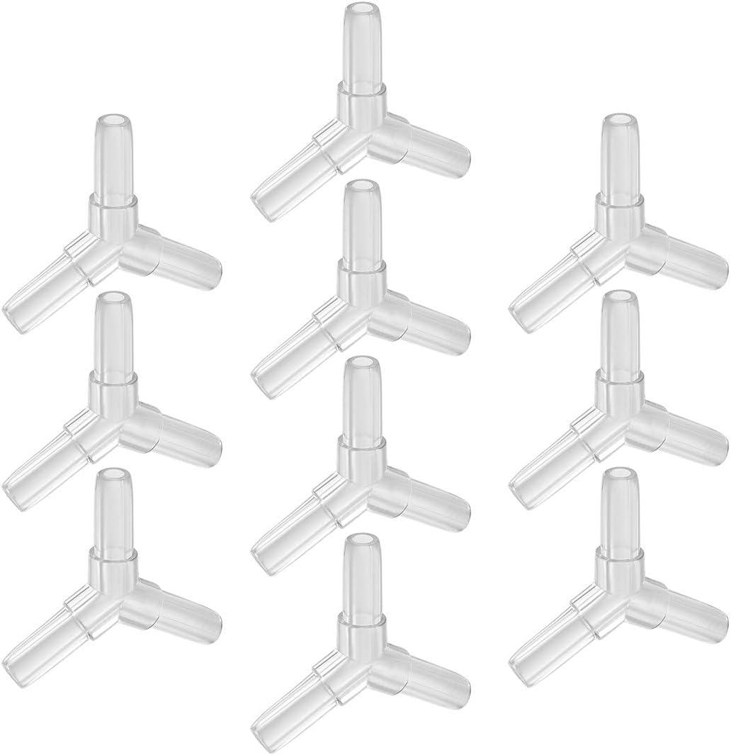 uxcell Aquarium Air Valve Connector Plastic Inline Tubing Y-Shaped Valves for 4mm Fish Tank Pond Air Line 10pcs
