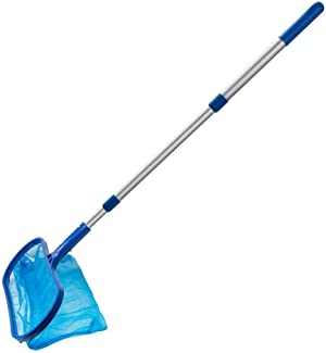 NOKMY Pool Skimmer Net Leaf Cleaning with Telescopic Pole Detachable,for Removing Leaves and Debris in The Pool,Rake Cleaning Tool