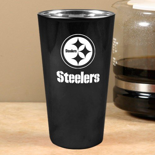 Pittsburgh Steelers Black Lusterware Pint Cup at SteelerMania