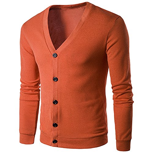 - GINELO Men Knitted Sweater Casual Cotton Long Sleeve Cardigan Tops