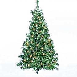 Kurt Adler Pre-Lit Norway Pine Wall Tree, 48-Inch