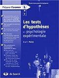 Les tests d'hypothèses en psychologie expérimentale