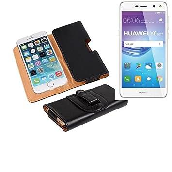 Bolso de la correa de cuero artificial para el Huawei Y6 2017 Dual ...