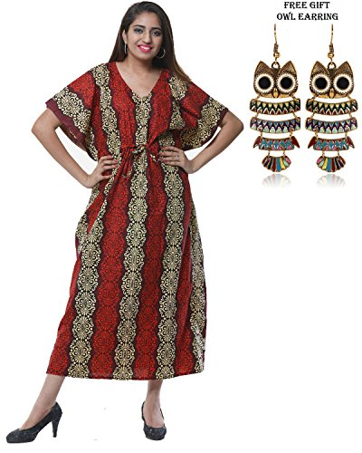 Cotton 5007 Maxi Gown Kaftan Dress Odishabazaar Womens Caftan Kimono Summer Night FHvWxq5wE