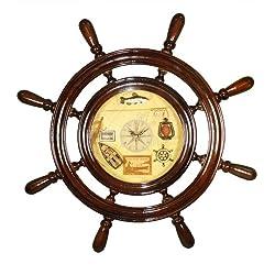 22 Ship Wheel Clock: Nautical Boat Decor
