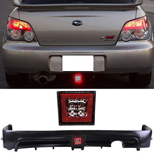 Rear Lip & Brake Lights Fits 2006-2011 HONDA CIVIC 4 DOOR | PP Black Rear Lip Spoiler Spiltter by IKON MOTORSPORTS | 2007 2008 2009 2010 ()