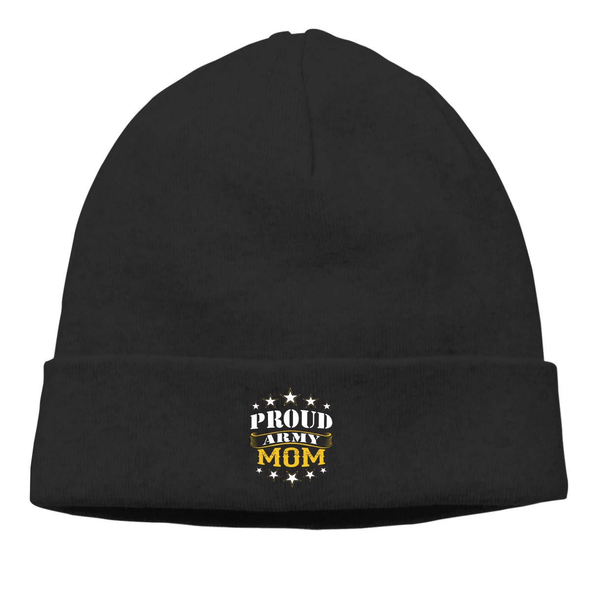 Nskngr Proud Army Mom Logo Men Winter Summer Oversized Baggy Slouchy Beanie Hat