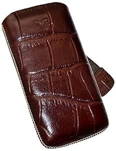 Suncase - Funda de cuero para LG GM360 Viewty, color marrón