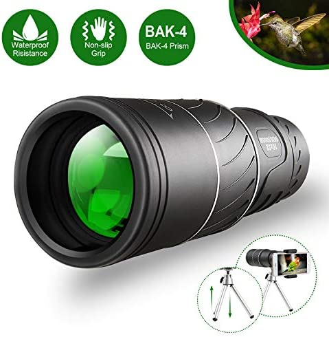 Monocular Telescope,16×52 Monocular Dual Focus Optics Zoom Telescope, Day Low Night Vision- Upgrade Waterproof Monocular with Durable and Clear FMC BAK4 Prism Dual Focus for Bird Watching, Camping