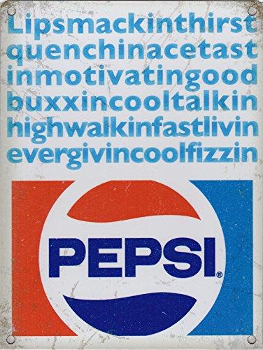 Cartel de Metal Original de Pepsi Cola ...