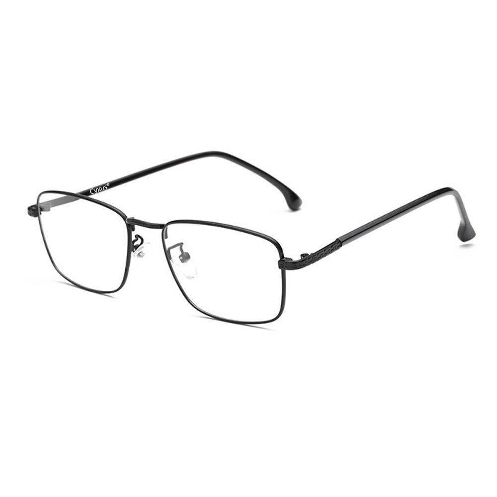 Cyxus Blue Light Filter Glasses (Ultem Lightweight Flexible) Anti Eyestrain (8328T02, Matte Black) Cyxus Technology Group Ltd CY-243