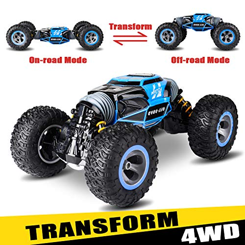 Remote Control Car, Kids Toys Off Road Transform Racing Truck 2.4Ghz 4WD Electric Motors Vehicles Buggy Hobby Car Outdoor for Adults