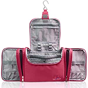 "TRAVANDO XXL Toiletry Bag for Women ""MAXI"" with Hanging Hook 