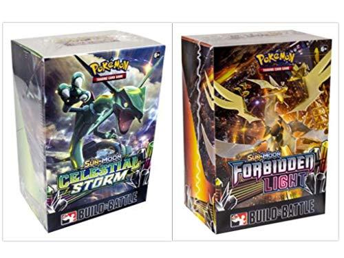 Pokémon TCG Sun & Moon Celestial Storm Prerelease Kit + Sun & Moon Forbidden Light Prerelase Kit Pokémon Trading Card Game Bundle, 1 of Each