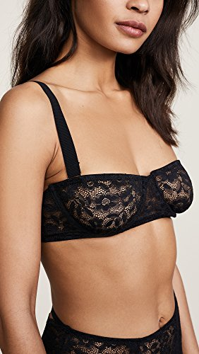 For Love & Lemons Women's Havana Demi Underwire Bra, Noir, Small by For Love & Lemons (Image #5)