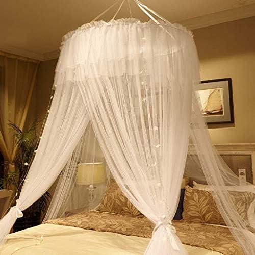 58SD シンプルドリームベッドベッドルームベッドサイドプリンセス風糸児童室の天井のテントホワイトドーム蚊帳 (Color : B, Size : 2.0m (6.6ft) bed)