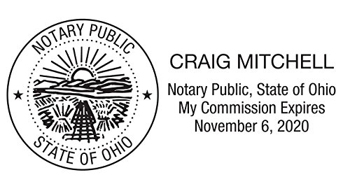 Notary Stamp for State of Ohio- Self Inking Stamp, Customize Online